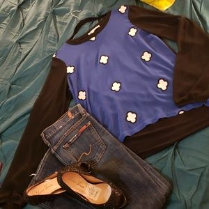 Sheer BCBG Tunic High low top Size Medium